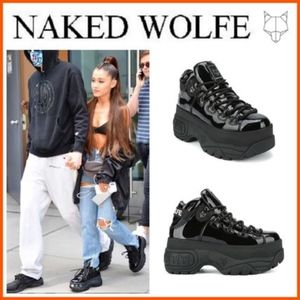 Naked Wolfe Shoes - Naked Wolfe - Black Patent Leather - Platform Shoe